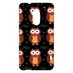 Halloween brown owls  HTC One Max (T6) Hardshell Case