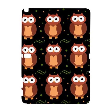 Halloween brown owls  Samsung Galaxy Note 10.1 (P600) Hardshell Case