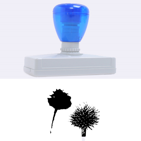 Withered Globe Thistle In Autumn Macro Rubber Address Stamps (XL)