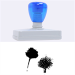 Withered Globe Thistle In Autumn Macro Rubber Address Stamps (XL) 3.13 x1.38  Stamp