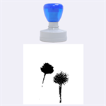 Withered Globe Thistle In Autumn Macro Rubber Round Stamps (Large) 1.875 x1.875  Stamp