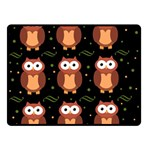 Halloween brown owls  Double Sided Fleece Blanket (Small)  50 x40 Blanket Front