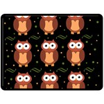 Halloween brown owls  Double Sided Fleece Blanket (Large)  80 x60 Blanket Back