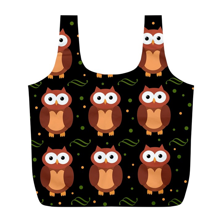 Halloween brown owls  Full Print Recycle Bags (L)