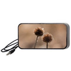 Withered Globe Thistle In Autumn Macro Portable Speaker (black)