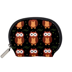 Halloween brown owls  Accessory Pouches (Small)