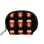 Halloween brown owls  Accessory Pouches (Small)  Front