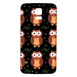 Halloween brown owls  Samsung Galaxy S5 Back Case (White) Front