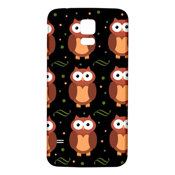 Halloween brown owls  Samsung Galaxy S5 Back Case (White)