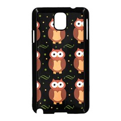 Halloween brown owls  Samsung Galaxy Note 3 Neo Hardshell Case (Black)