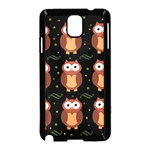 Halloween brown owls  Samsung Galaxy Note 3 Neo Hardshell Case (Black) Front