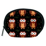 Halloween brown owls  Accessory Pouches (Medium)  Front
