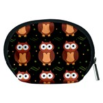 Halloween brown owls  Accessory Pouches (Medium)  Back