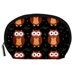 Halloween brown owls  Accessory Pouches (Large)  Front