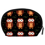 Halloween brown owls  Accessory Pouches (Large)  Back
