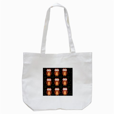 Halloween brown owls  Tote Bag (White)