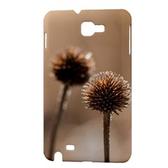 Withered Globe Thistle In Autumn Macro Samsung Galaxy Note 1 Hardshell Case