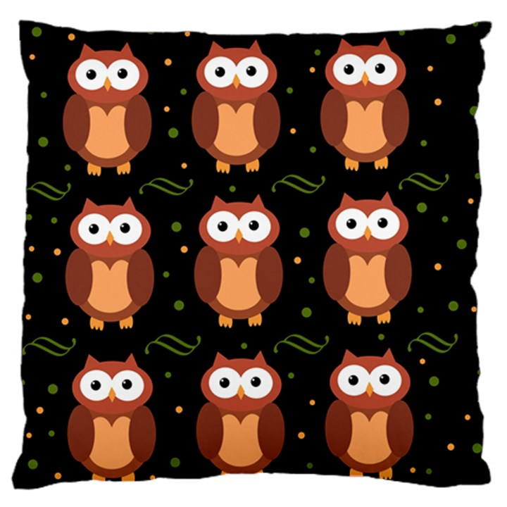 Halloween brown owls  Standard Flano Cushion Case (One Side)