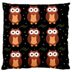 Halloween brown owls  Large Flano Cushion Case (Two Sides) Back
