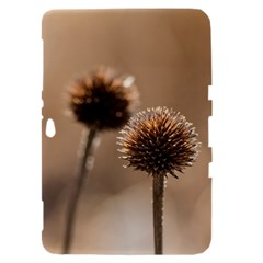 Withered Globe Thistle In Autumn Macro Samsung Galaxy Tab 8.9  P7300 Hardshell Case