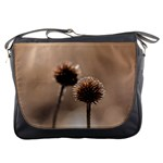 Withered Globe Thistle In Autumn Macro Messenger Bags Front