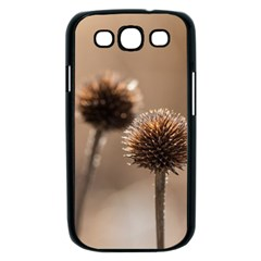 Withered Globe Thistle In Autumn Macro Samsung Galaxy S III Case (Black)