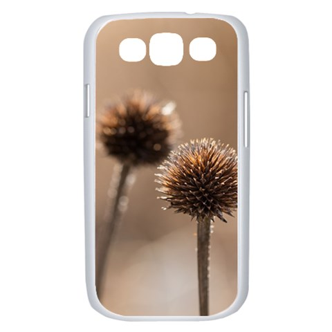 Withered Globe Thistle In Autumn Macro Samsung Galaxy S III Case (White)