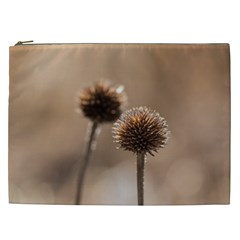 Withered Globe Thistle In Autumn Macro Cosmetic Bag (XXL)
