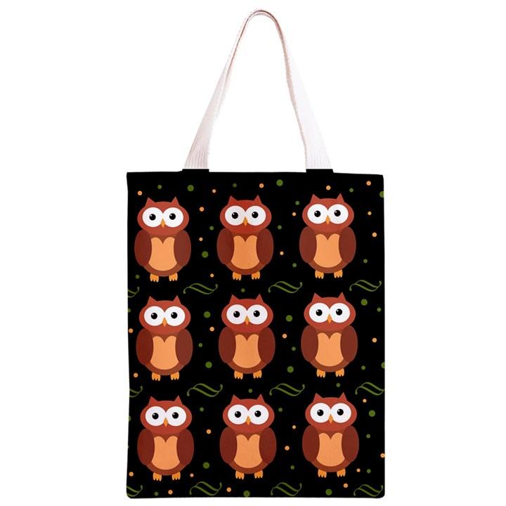Halloween brown owls  Classic Light Tote Bag