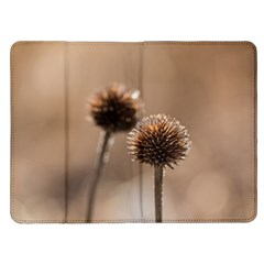 Withered Globe Thistle In Autumn Macro Kindle Fire (1st Gen) Flip Case