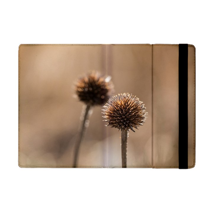 Withered Globe Thistle In Autumn Macro Apple iPad Mini Flip Case