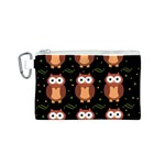 Halloween brown owls  Canvas Cosmetic Bag (S) Front