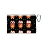 Halloween brown owls  Canvas Cosmetic Bag (S) Back