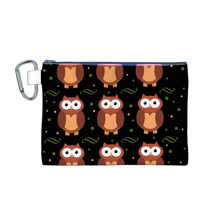 Halloween brown owls  Canvas Cosmetic Bag (M)