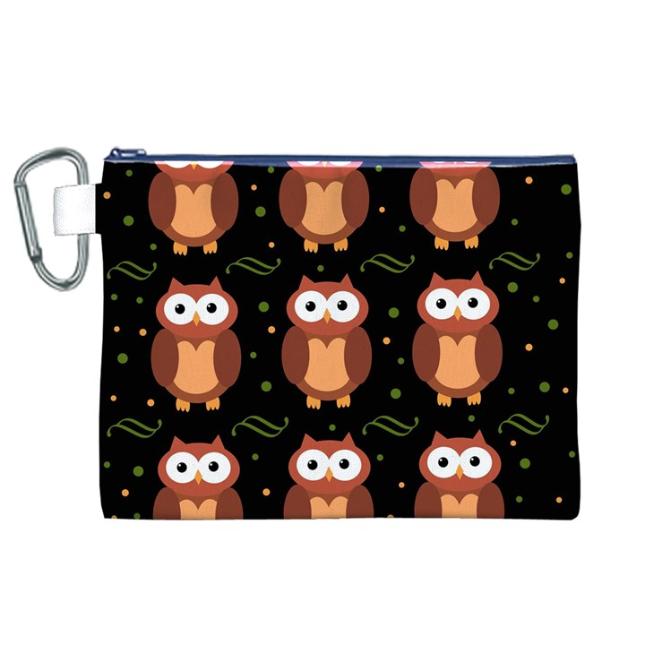 Halloween brown owls  Canvas Cosmetic Bag (XL)