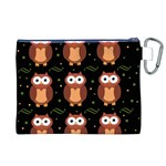 Halloween brown owls  Canvas Cosmetic Bag (XL) Back