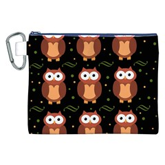 Halloween brown owls  Canvas Cosmetic Bag (XXL)