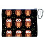 Halloween brown owls  Canvas Cosmetic Bag (XXL) Back
