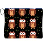 Halloween brown owls  Canvas Cosmetic Bag (XXXL) Front