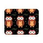 Halloween brown owls  Double Sided Flano Blanket (Mini)  35 x27 Blanket Back