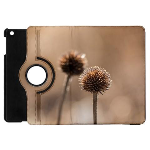 Withered Globe Thistle In Autumn Macro Apple iPad Mini Flip 360 Case