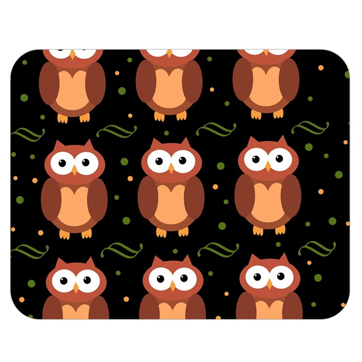 Halloween brown owls  Double Sided Flano Blanket (Medium)
