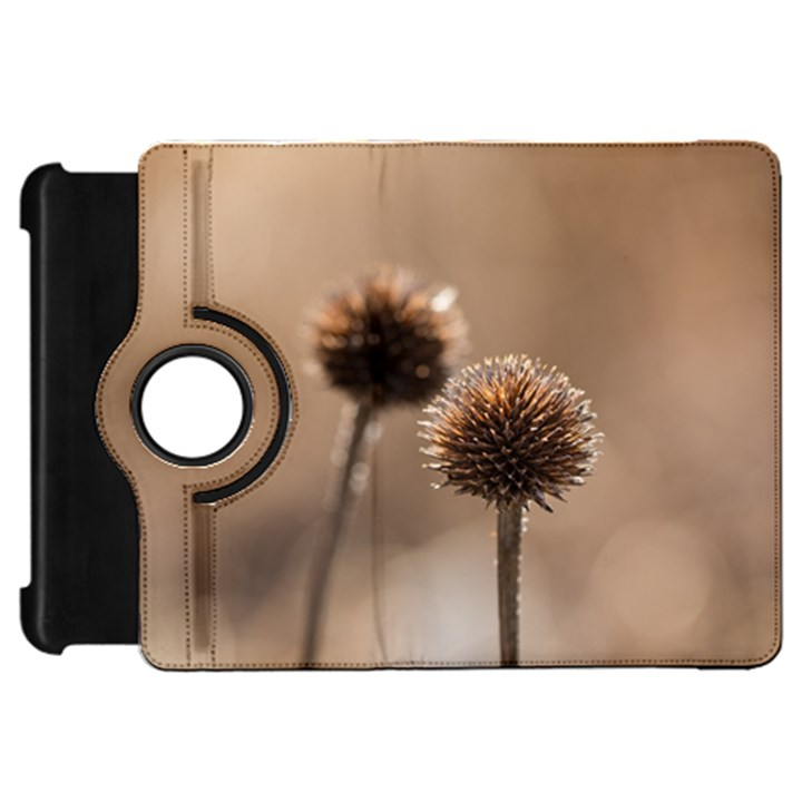 Withered Globe Thistle In Autumn Macro Kindle Fire HD Flip 360 Case