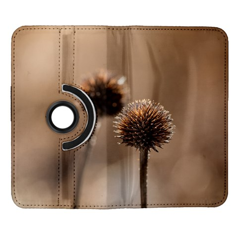 Withered Globe Thistle In Autumn Macro Samsung Galaxy Note II Flip 360 Case