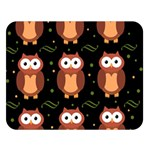 Halloween brown owls  Double Sided Flano Blanket (Large)  80 x60 Blanket Front