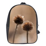 Withered Globe Thistle In Autumn Macro School Bags (XL)  Front