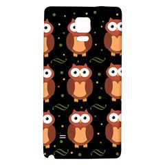 Halloween brown owls  Galaxy Note 4 Back Case