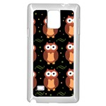 Halloween brown owls  Samsung Galaxy Note 4 Case (White) Front
