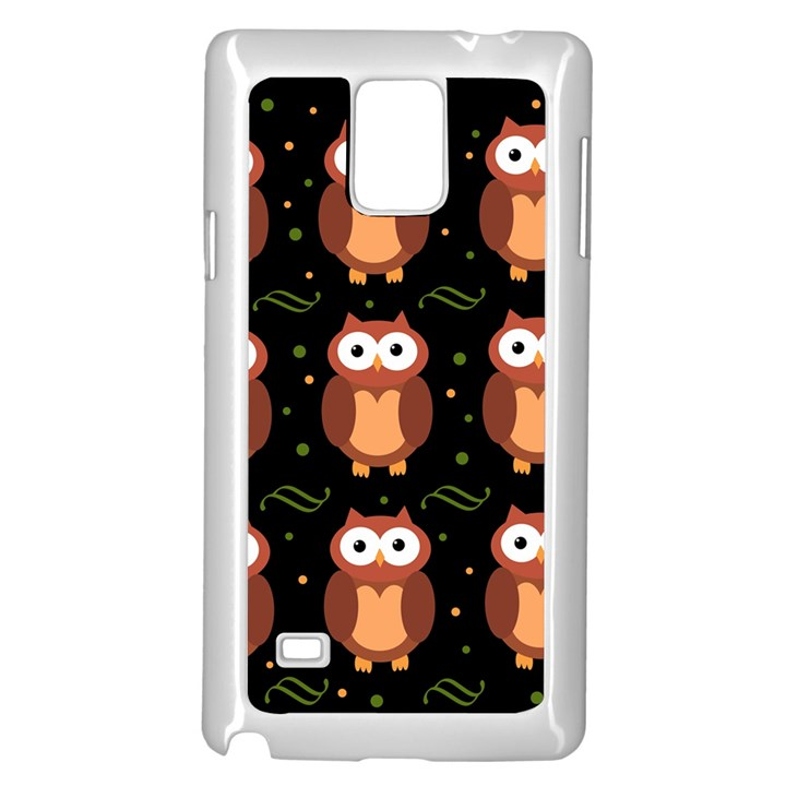 Halloween brown owls  Samsung Galaxy Note 4 Case (White)