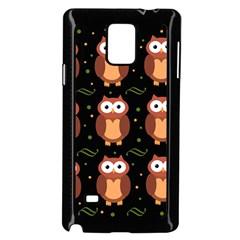 Halloween brown owls  Samsung Galaxy Note 4 Case (Black)